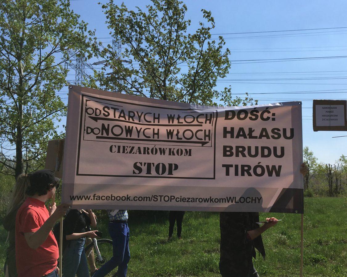 Włochowskie organizacje popierają budowę drogi technicznej na Odolanach