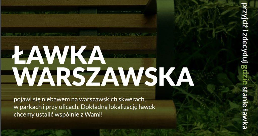 Plakat z napisem Ławka Warszawska