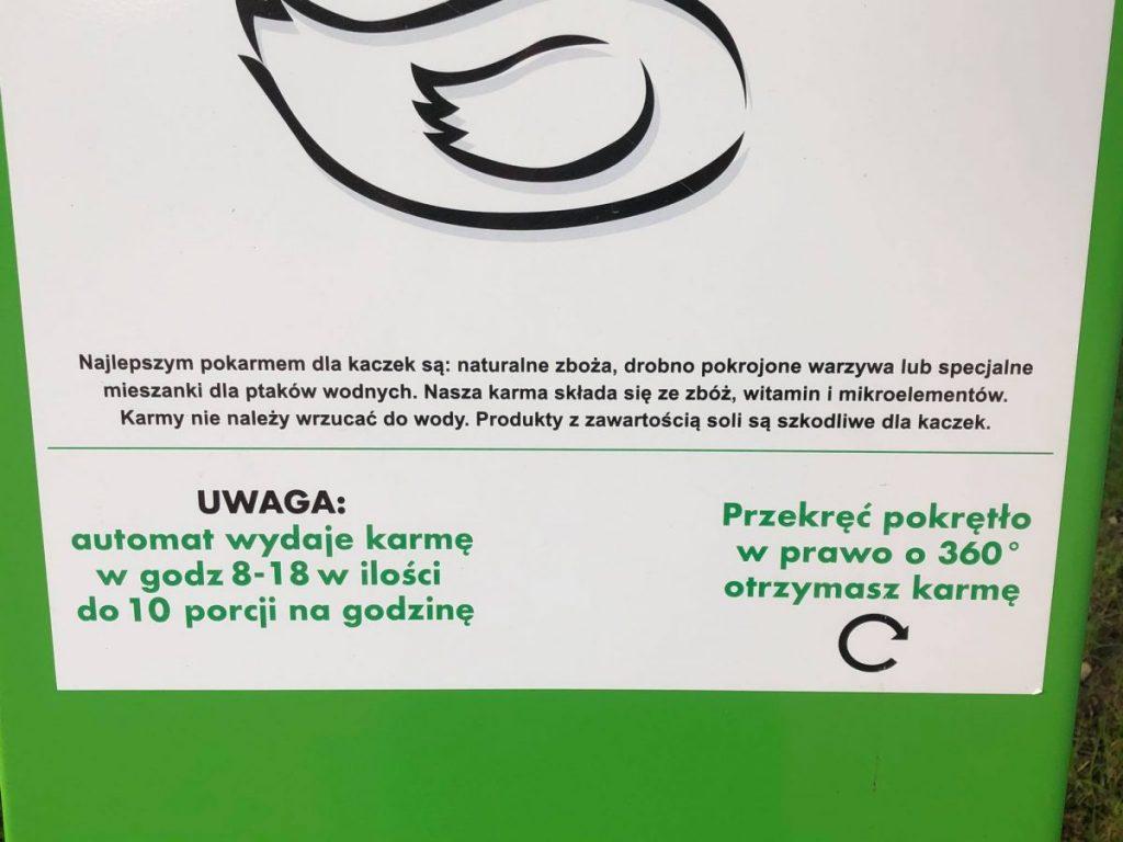 instrukcja użycia na kaczkomacie