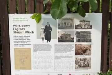 """Plansza z wystawy """"Dawne Miast Ogród Włochy na fotografii"""""""