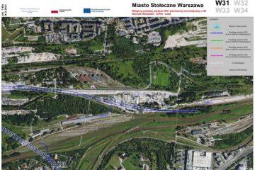 Przebieg Linii CPK Warszawa Odolany